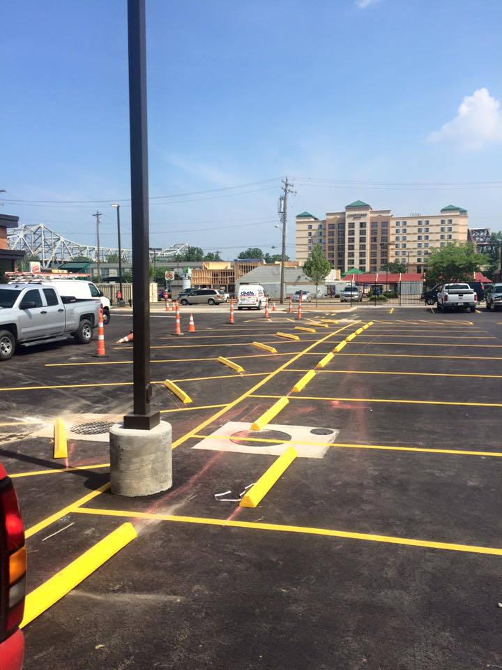 Parking lot paviment in Cincinnati