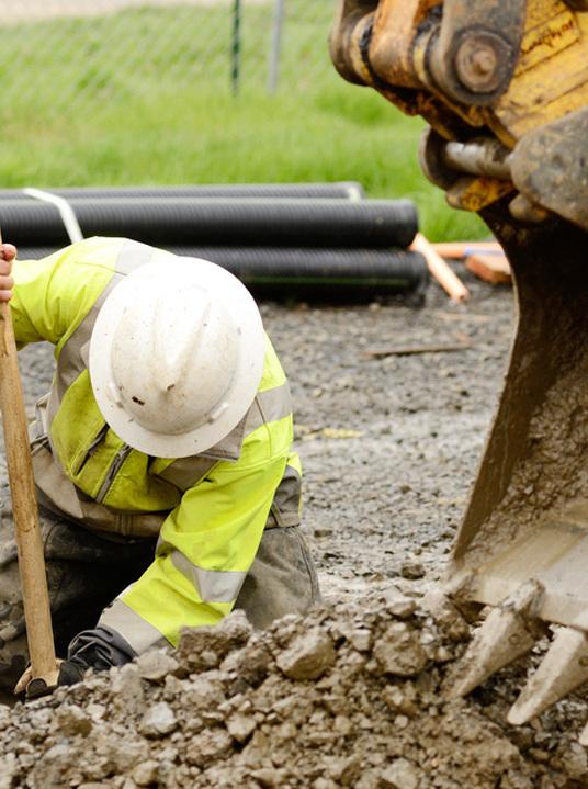 professional preparing the land in Cincinnati