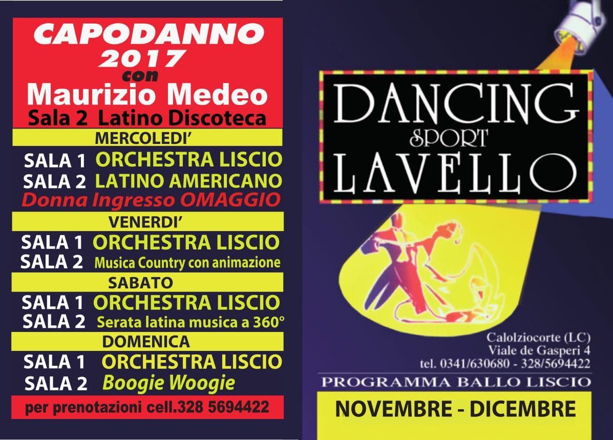 DANCING NOVEMBRE DICEMBRE 2017