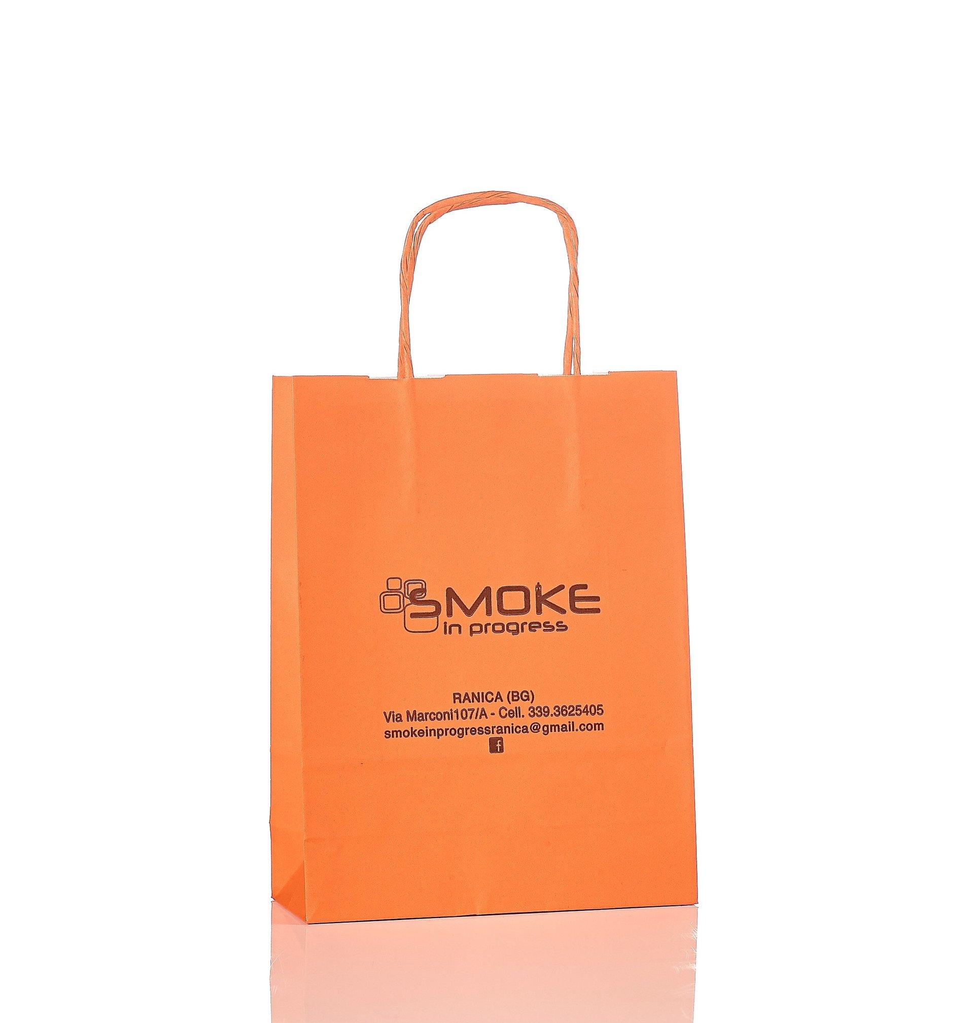 Sacchetto in carta arancione Smoke In Progress