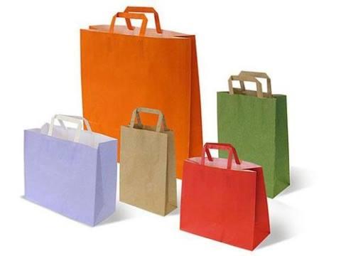sacchetti in carta con maniglia piatta