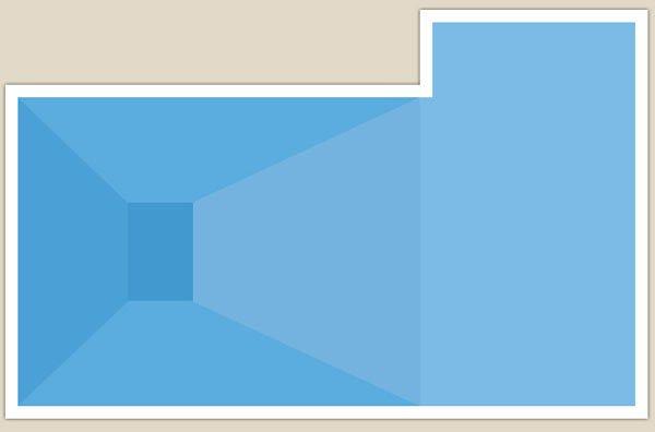 piscina forma a L rovesciata