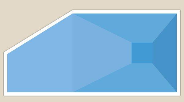 piscina con forma irregolare - quattro lati