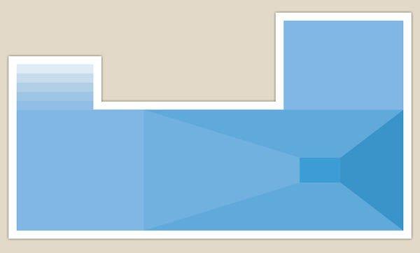 piscina forma a U