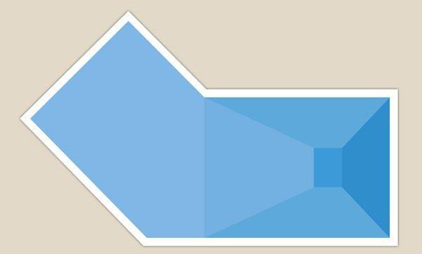 piscina con forma astratta