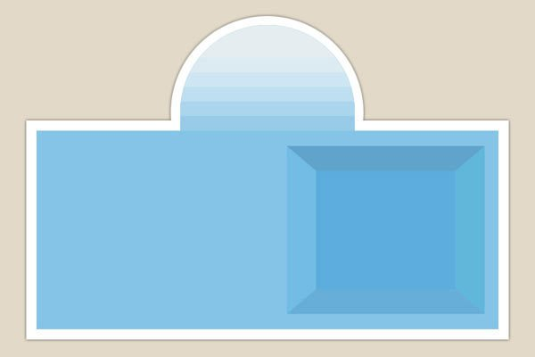 piscina con entrata centrale