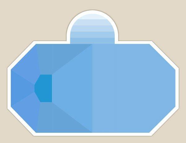 piscina  8 lati con entrata in alto