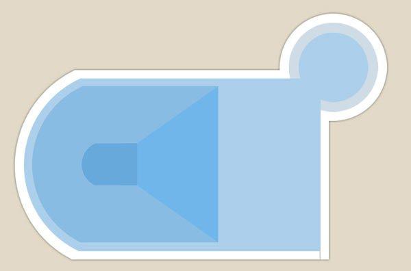 piscina con entrata angolo alto destro