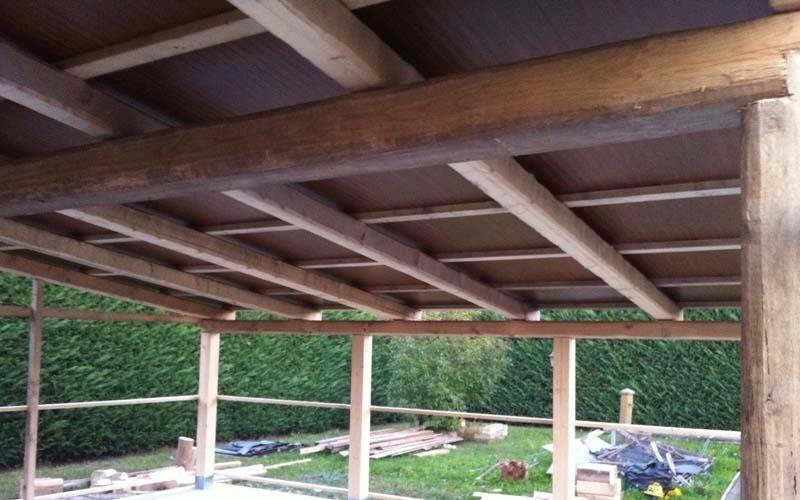 Tetti e tettoie in legno