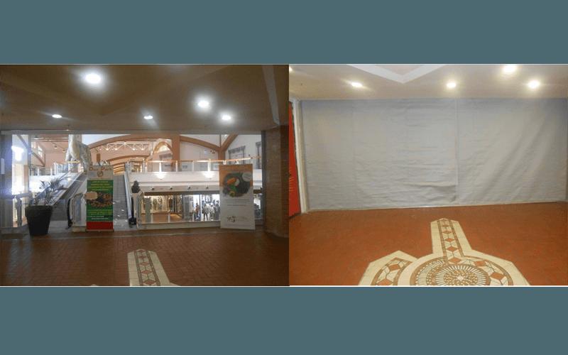 Tenda tagliafuoco in galleria commerciale