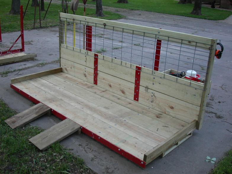 Two roll-on ramps