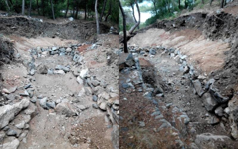 scavi con mezzi cingolati