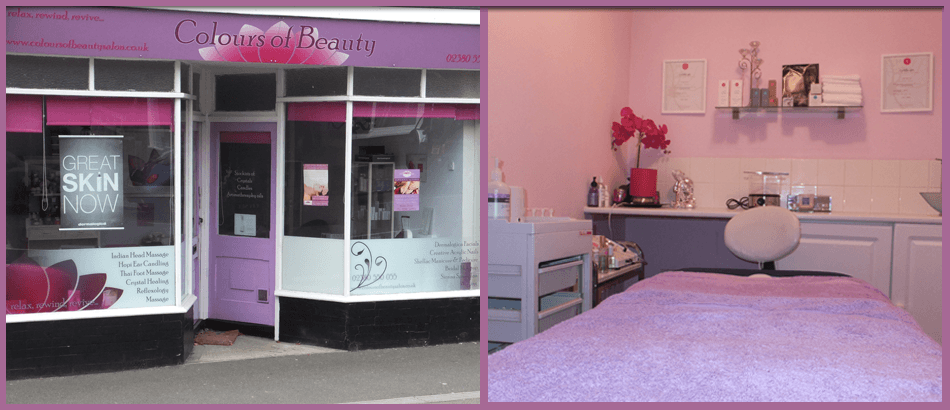 External and internal images of the beauty salon