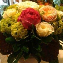 Bouquet tondo con ortensie
