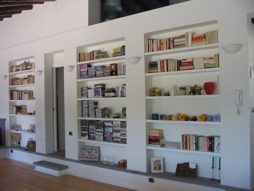 Lavori in cartongesso cagliari gemi edilizia - Libreria divisoria con porta ...