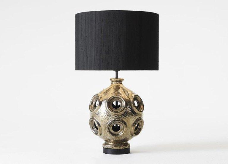 Lampada in ceramica finitura argento