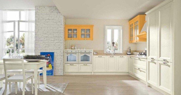 Cucina Mod. Country in frassino laccato poro aperto disponibile in vari colori