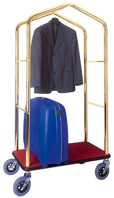 appendiabiti con giacca e valigia