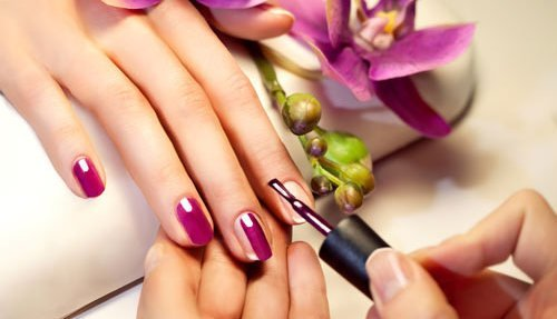 One of our expert nail treatments at our salon in Thame