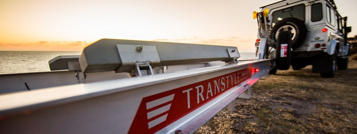 Transtyle trailers car carrying boat