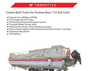 Transtyle trailers pontoon boat tri hull yacht