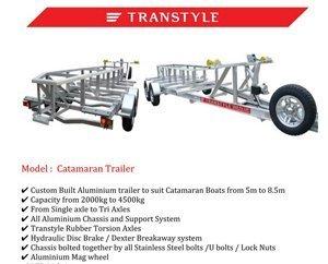 Transtyle trailers catamaran