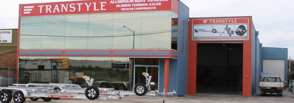 Transtyle trailers shop front view