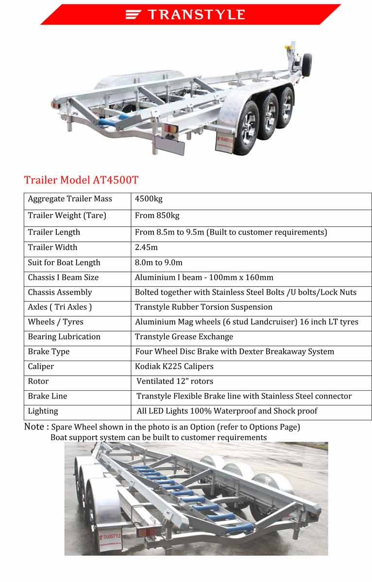 Aluminium Boat Trailers | Carrum Downs | Transtyle Trailers