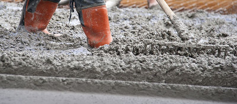 Concrete work in progress
