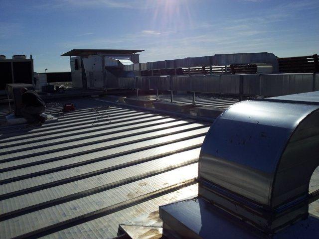 Prospettiva della terrazza dell'edificio con la nuova sistemazione terminata