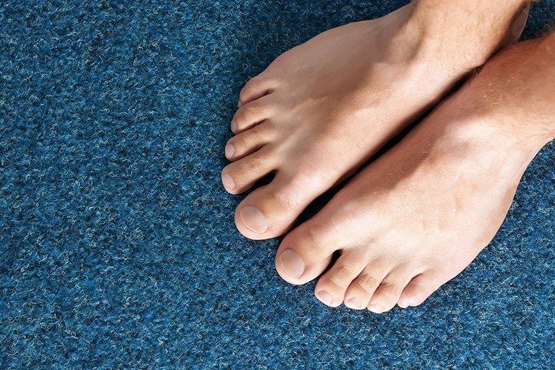 Healthy male feet