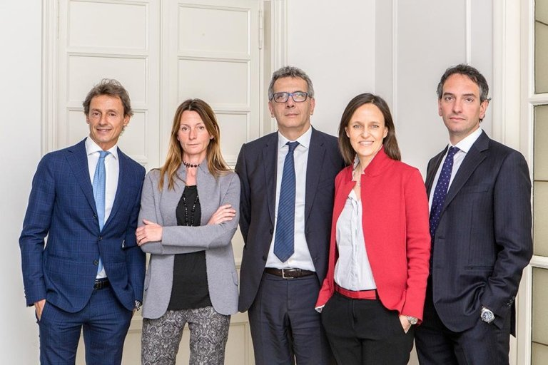 The five partners of Pacchiana Parravicini and & Associates