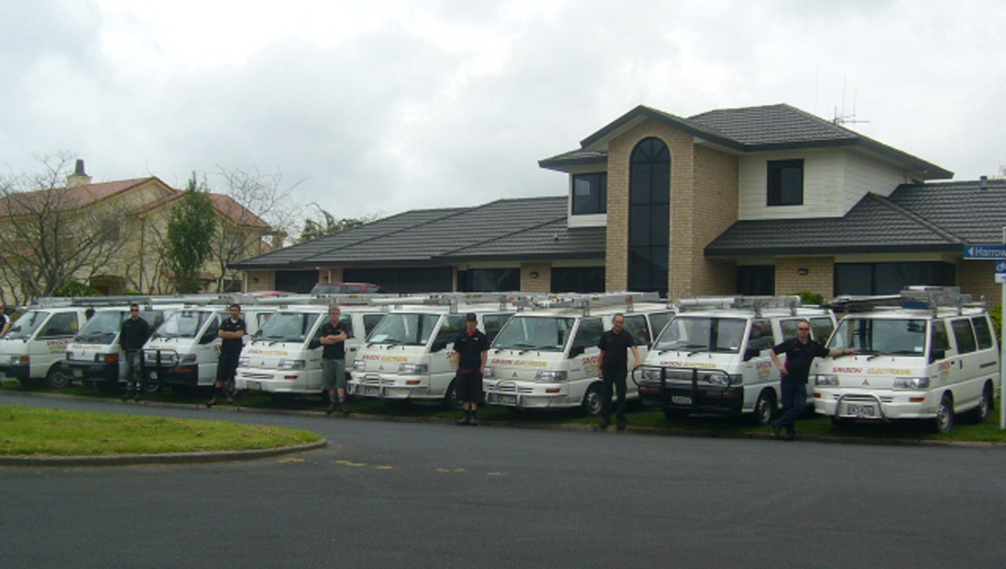 Sanson electrical van parked together