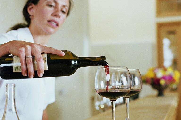 Wine tasting service pouring wine in Melbourne