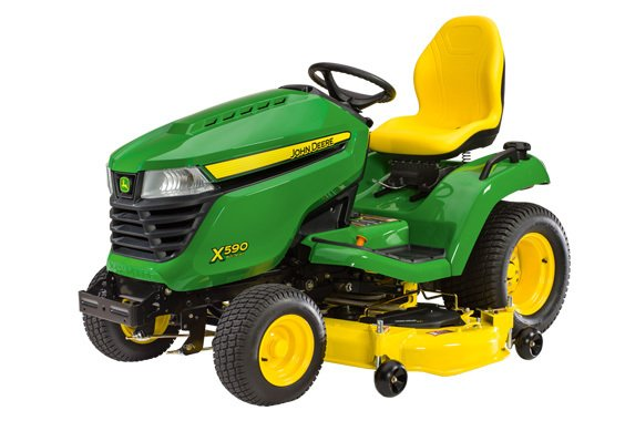John Deere ride-on garden mower