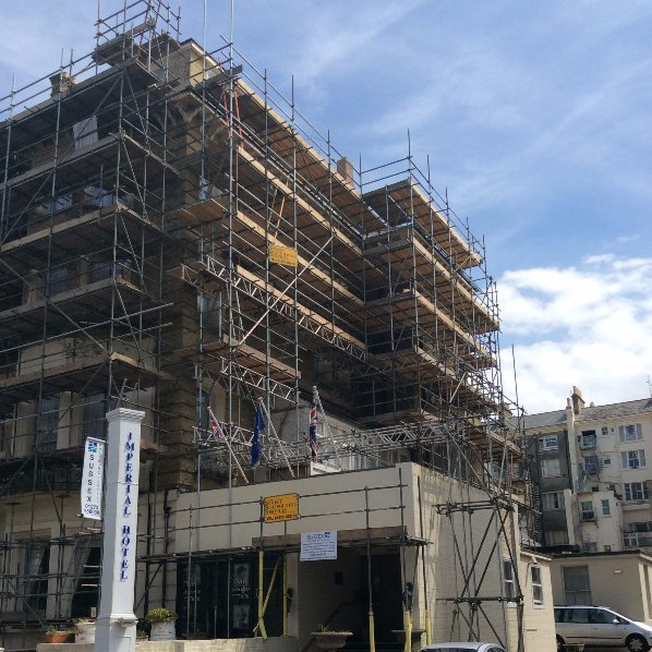 Scaffolding projects in Brighton
