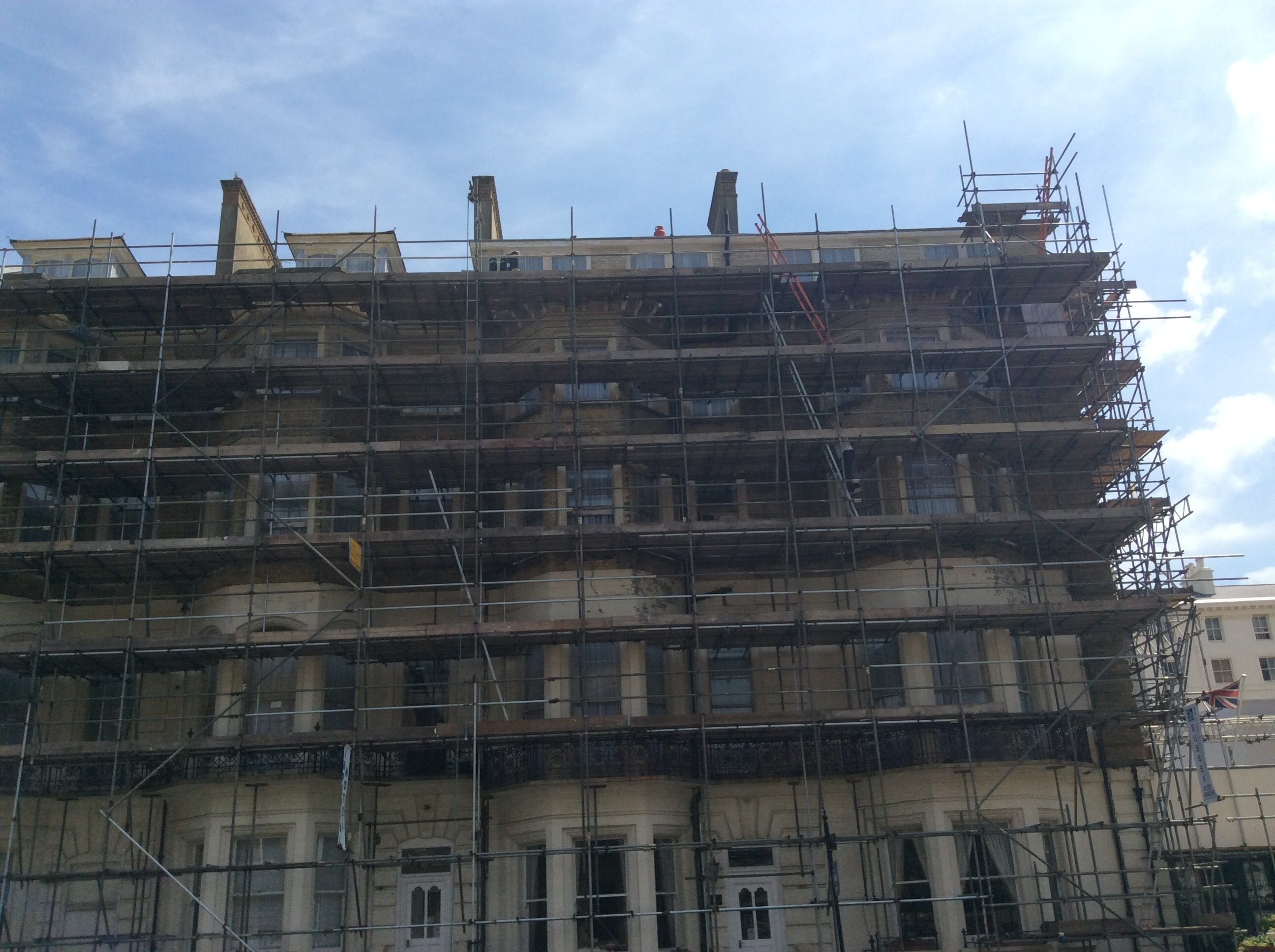 building renovation scaffolding