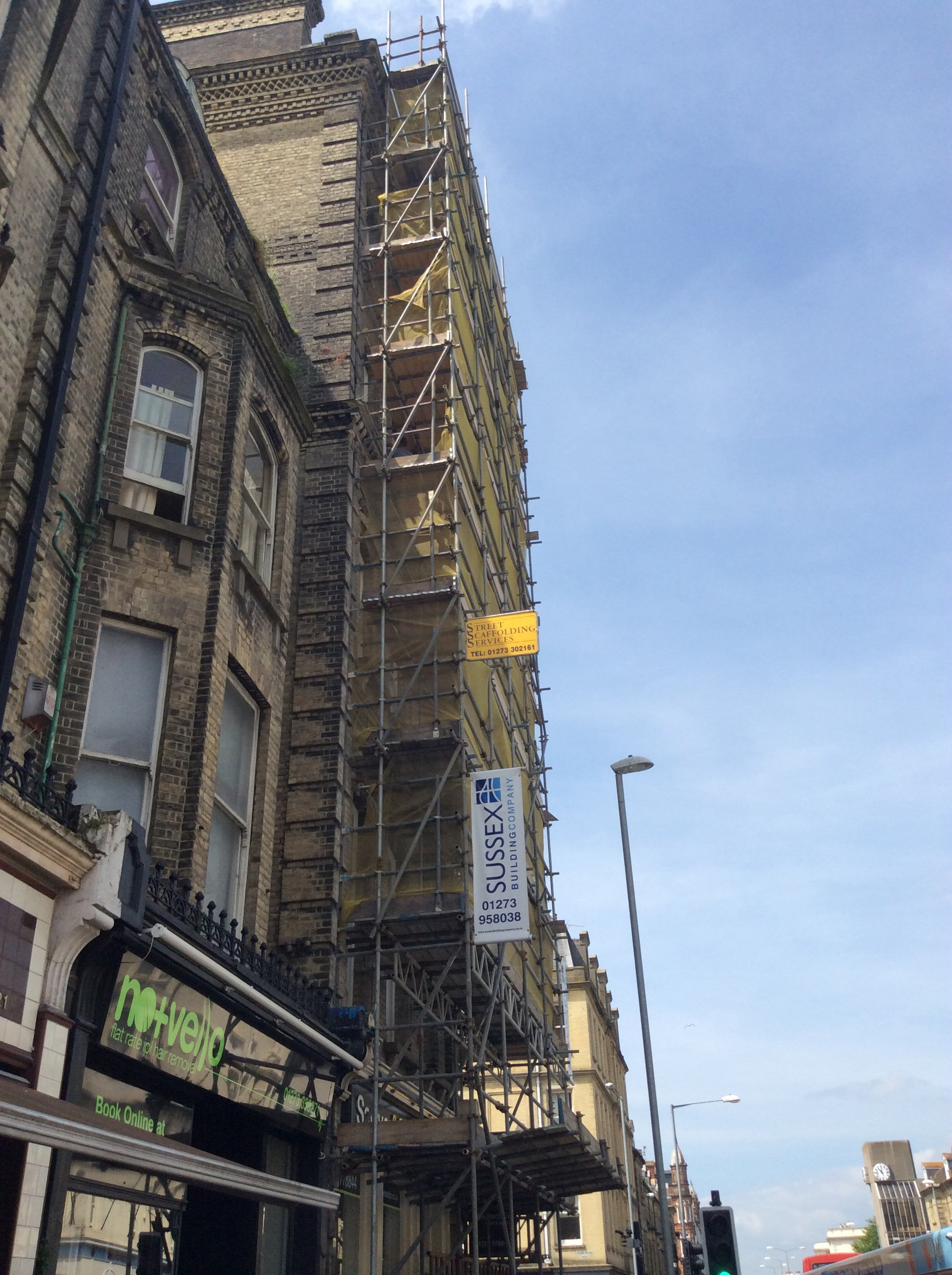 building remodelling scaffolding