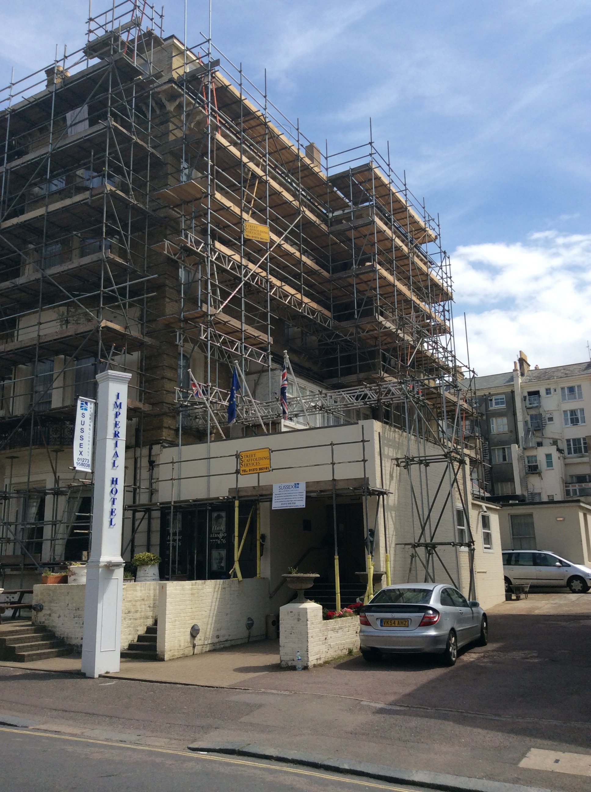 scaffolding for building repairs