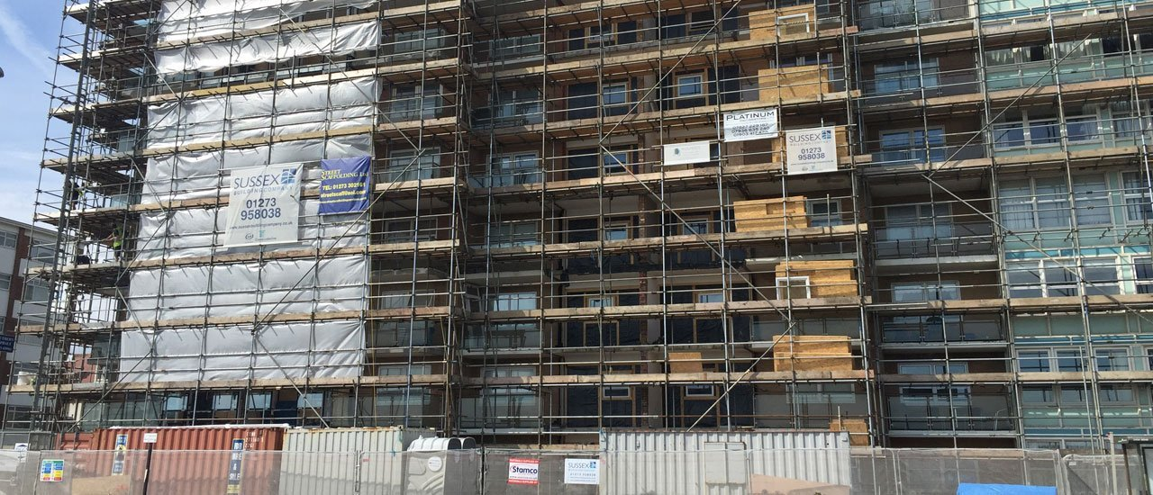 commercial construction scaffoldings