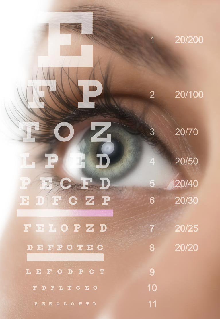 vision optical eye letters