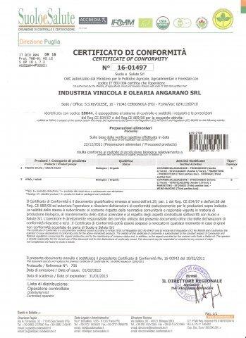"""La nostra azienda si vanta di aver conseguito diverse certificazioni.. Abbiamo la certificazione dell'associazione """"SUOLO E SALUTE""""."""