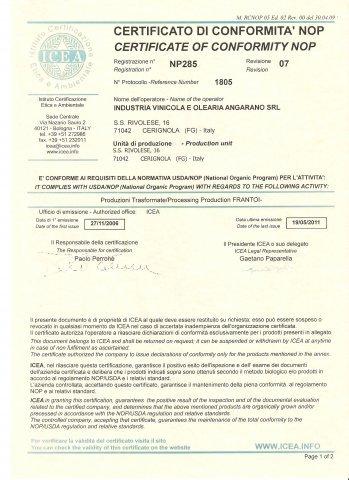 Abbiamo la certificazione ICEA