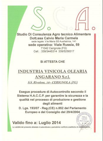 I nostri prodotti sono certificati USDA ORGANIC.