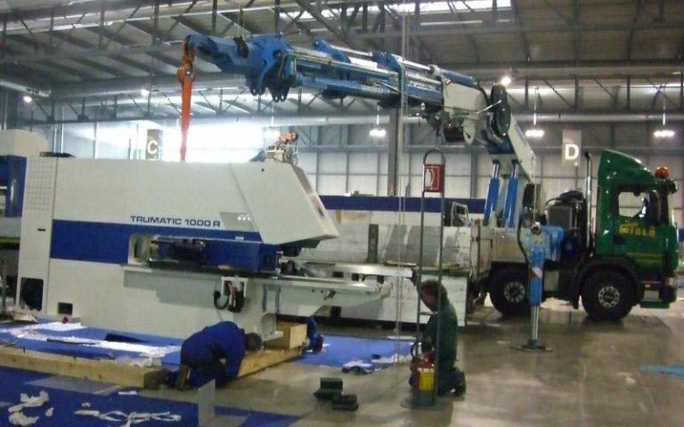Posizionamento attrezzature industriali