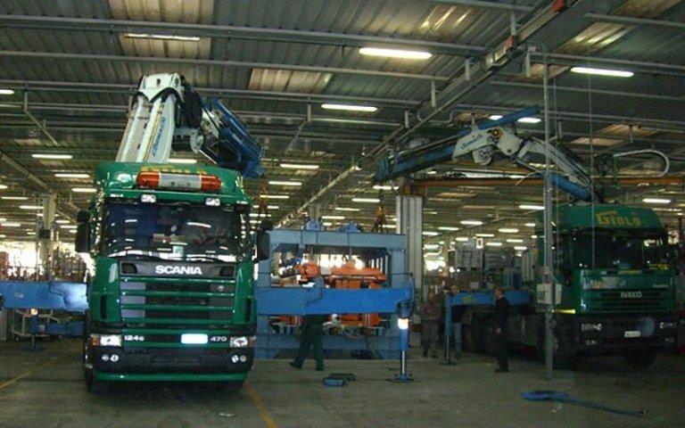Posizionamento macchine per industria
