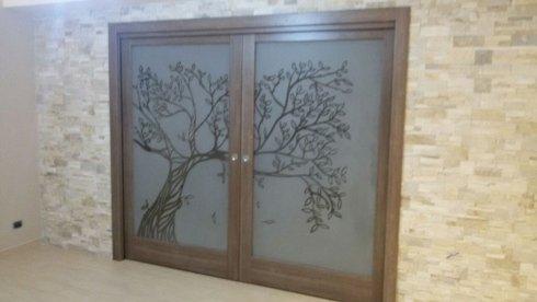 porta in vetro