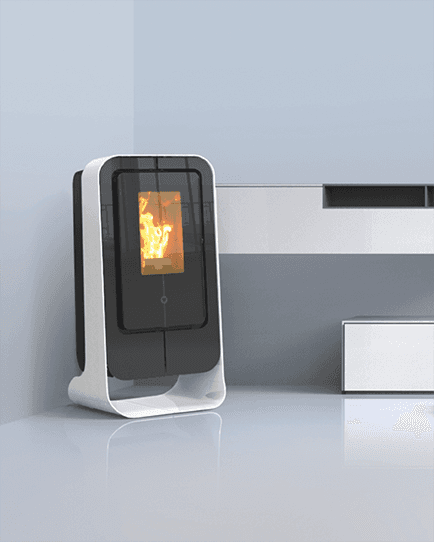 stufa a pellet in design moderno
