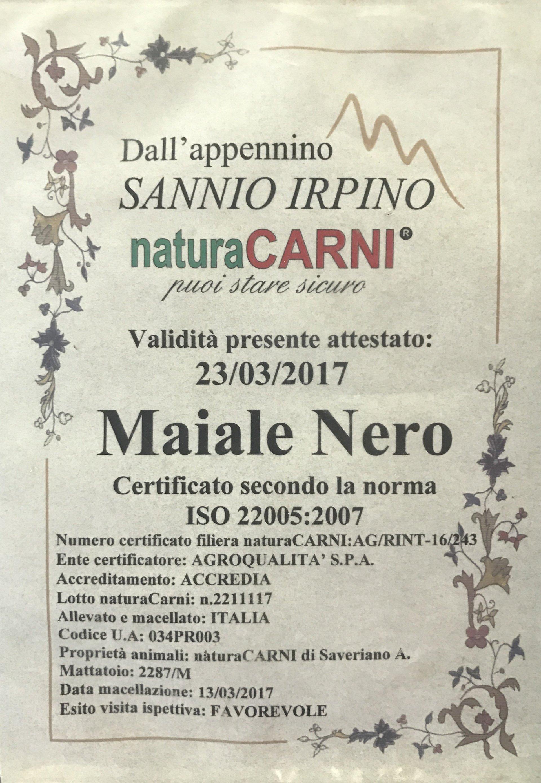 certificazione carni