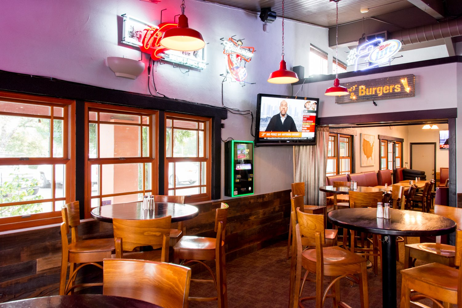 Red Hen Bar and Grill  interior seating area